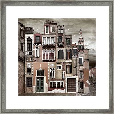 Venice Reconstruction 2 Framed Print by Joan Ladendorf