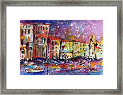 Venice Reflections Celebrating Italy Painting Framed Print