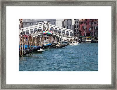 Venice Rialto Bridge Framed Print by Melanie Viola