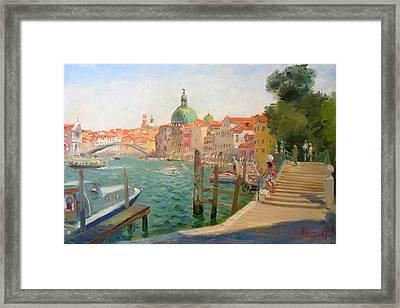 Venice Santa Chiara Framed Print by Ylli Haruni