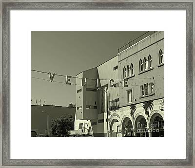 Venice Sign Framed Print