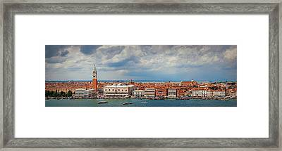 Framed Print featuring the photograph Venice Skyline Panorama by Songquan Deng