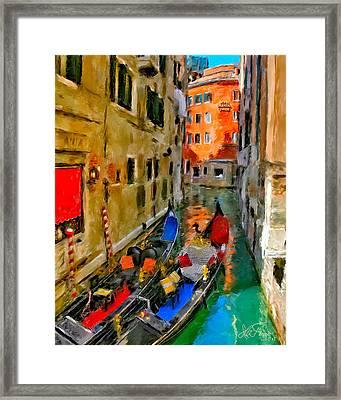 Framed Print featuring the photograph Venice. Splendid Svisse by Juan Carlos Ferro Duque