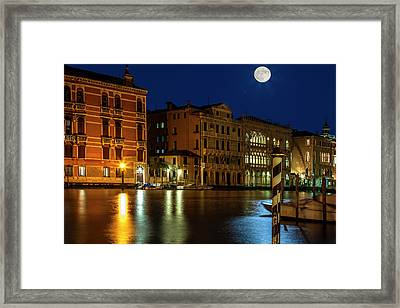 Venice Super Moon Framed Print
