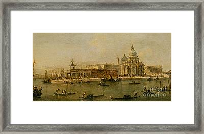 Venice  The Dogana And Santa Maria Della Salute Framed Print