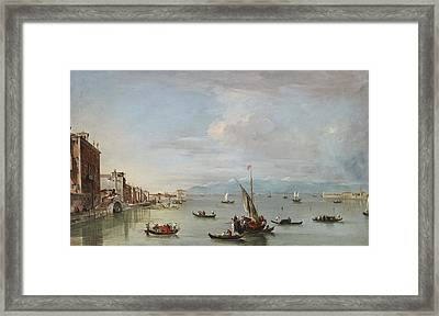 Venice  The Fondamenta Nuove With The Lagoon And The Island Of San Michele Framed Print by Francesco Guardi
