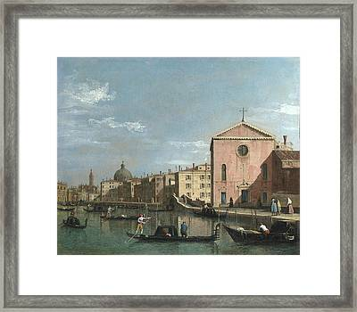 Venice   The Grand Canal Facing Santa Croce Framed Print