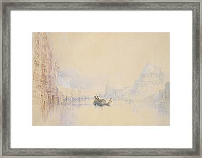 Venice  The Grand Canal Framed Print by Joseph Mallord William Turner