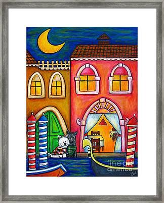 Venice Valentine Framed Print by Lisa  Lorenz