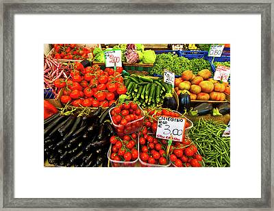 Framed Print featuring the photograph Venice Vegetable Market by Harry Spitz