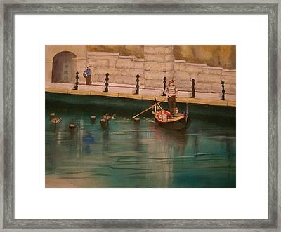 Framed Print featuring the painting Venice Via Providence by Lynn Babineau