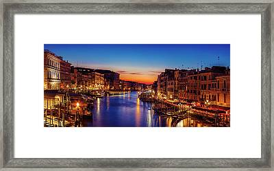 Venice View At Twilight Framed Print