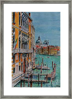 Venice, View From Academia Bridge Framed Print