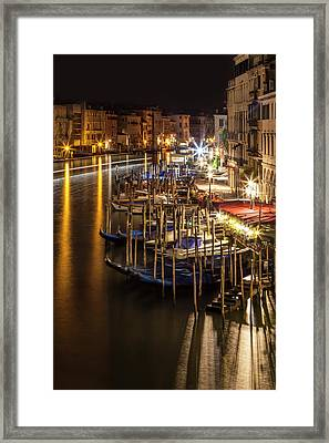Venice View From Rialto Bridge Framed Print by Melanie Viola