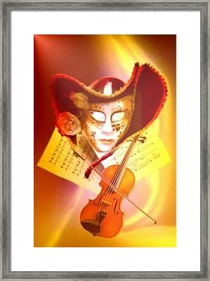 Venice Violinist Framed Print by Norman Reutter