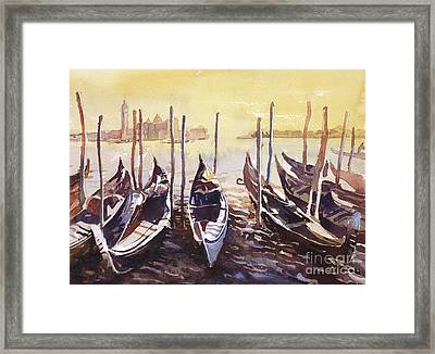 Framed Print featuring the painting Venice Watercolor- Italy by Ryan Fox
