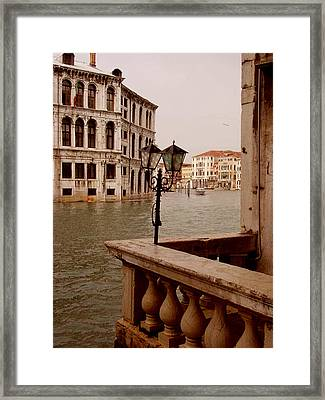 Framed Print featuring the photograph Venice Waterway by Nancy Bradley