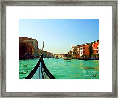 Framed Print featuring the photograph Venice Waterway by Roberta Byram