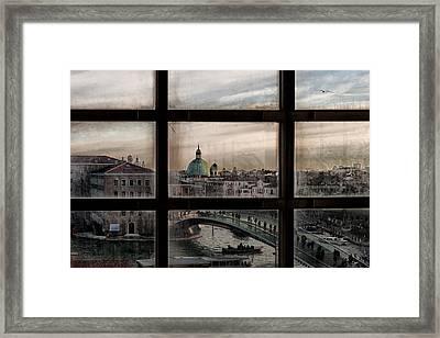 Venice Window Framed Print by Roberto Marini