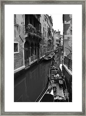 Venician Street Scene Framed Print by Charles Staincliffe