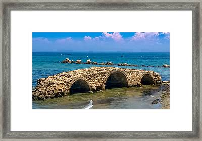 Venitian Bridge Argassi Framed Print