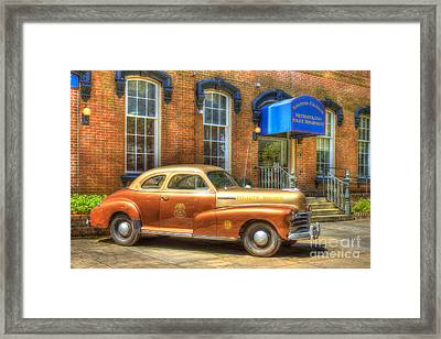1948 Chevrolet Stylemaster Coupe Chatham County Police Car Framed Print by Reid Callaway