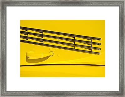 Vented Chrome To Yellow Framed Print