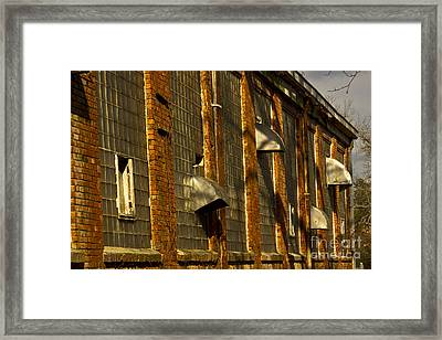 Venting Hot Air The Mary Leila Cotton Mill 1899 Framed Print by Reid Callaway