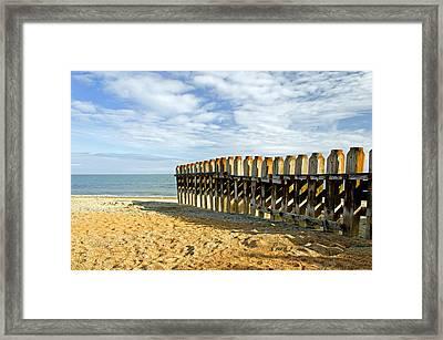 Ventnor Beach Groyne Framed Print by Rod Johnson