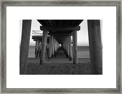 Ventnor Pier B/w Framed Print