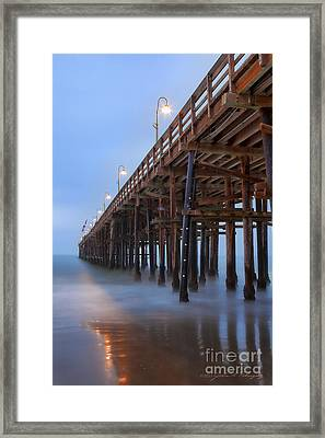 Framed Print featuring the photograph Ventura Ca Pier At Dawn by John A Rodriguez