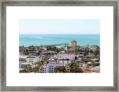 Ventura Coastal View Framed Print by Art Block Collections