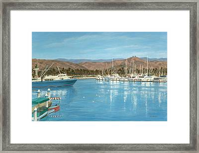 Ventura Harbor And The Two Trees Framed Print by Tina Obrien