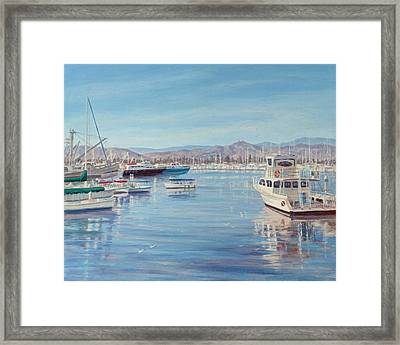 Ventura Harbor II Framed Print by Tina Obrien
