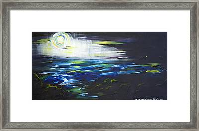 Ventura Seascape At Night Framed Print by Sheridan Furrer
