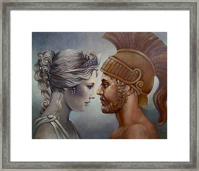 Venus And Mars Framed Print by Geraldine Arata