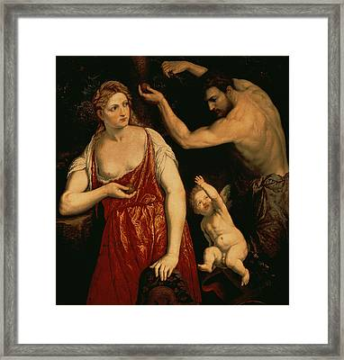 Venus And Mars Framed Print by Paris Bordone