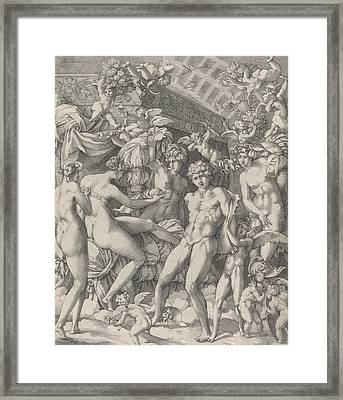 Venus And Mars With Cupid And The Three Graces Framed Print
