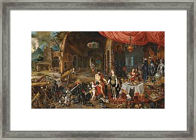 Venus At The Forge Of Vulcan Framed Print