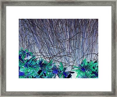 Venus Blue Botanical Framed Print