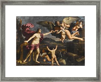 Venus Cupid And Chronos Framed Print