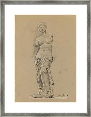 Venus De Milo Framed Print by Juan Bosco