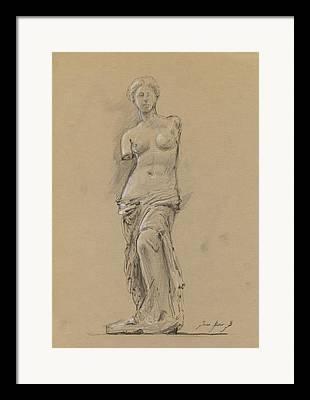 Louvre Museum Framed Prints