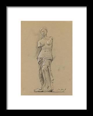 Louvre Framed Prints