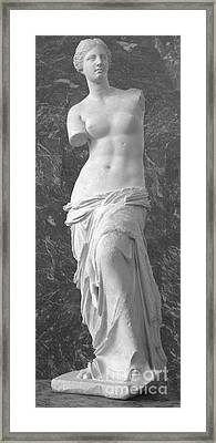 Venus De Milo Framed Print by Lilliana Mendez