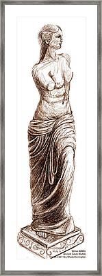 Venus Demilo Framed Print by Khaila Derrington