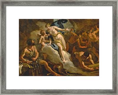 Venus In The Forge Of Vulcan Framed Print