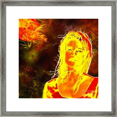 Venus Is Home Framed Print by Methune Hively