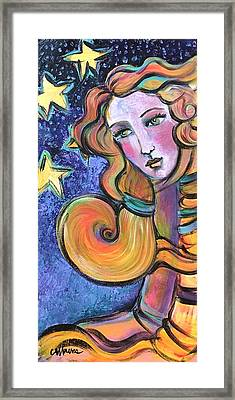 Framed Print featuring the painting Venus Of Barbosso  by Laurie Maves ART