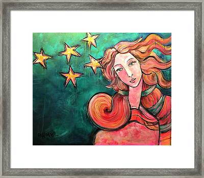 Framed Print featuring the painting Venus Of The Stars by Laurie Maves ART